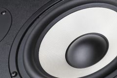 Acoustic loudspeaker macro. Pictures close up royalty free stock images