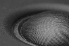 Acoustic loudspeaker macro. Pictures close up royalty free stock photo