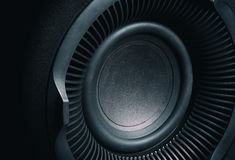 Acoustic multimedia speaker system. Close up of Acoustic multimedia speaker system. Macro Royalty Free Stock Images