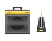 Acoustic musical speaker audio equipment musical technology and loudspeaker volume studio tool stereo entertainment Royalty Free Stock Photos