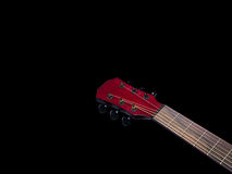 Acoustic  Neck Guitar, Red color Royalty Free Stock Photography