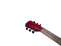 Acoustic  Neck Guitar, Red color, close up Royalty Free Stock Photos