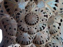 Acoustic niches in the ceiling of Music hall of Ali Qapu palace royalty free stock photos