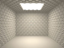 Acoustic room. A perfectly soundproofed rooms, a recording studio Royalty Free Stock Photo