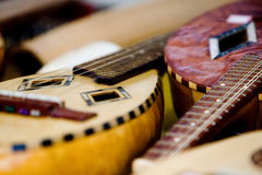 Acoustic rustic guitar Royalty Free Stock Image