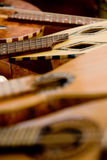 Acoustic rustic guitar Royalty Free Stock Photography