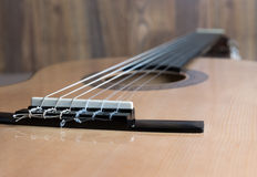 Acoustic six-string guitar Royalty Free Stock Photography