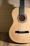 Acoustic six-string guitar Royalty Free Stock Images