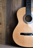 Acoustic six-string guitar Stock Photography