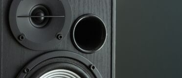 Free Acoustic Sound Speakers On Black Background. Multimedia, Audio And Sound Concept. Copy Space Stock Photo - 187297110
