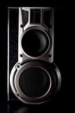Acoustic sound system. Low key image royalty free stock image