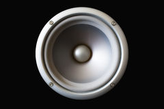 Acoustic speaker. Isolated on a black background. (Look Other variants in my profile Royalty Free Stock Photography