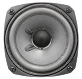 Acoustic speaker isolated Royalty Free Stock Image