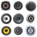 Acoustic speaker set Stock Image