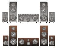 Acoustic speakers Stock Images