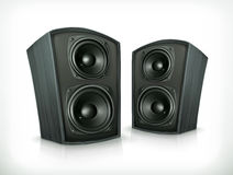 Acoustic speakers in plane wooden body Stock Image