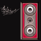 Acoustic speakers system. On a black background Royalty Free Stock Photography
