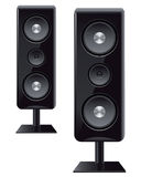 Acoustic speakers with three speakers Royalty Free Stock Image