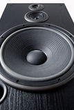 Acoustic system. Dynamics of low, medium and high frequency Royalty Free Stock Image