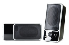 Acoustic system. An acoustic system over the white background Stock Images