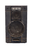 Acoustic system. Old acoustic system on white background Royalty Free Stock Photography