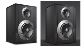 Acoustic system in black Stock Photos