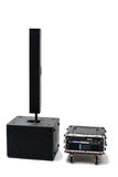 Acoustic system. Front view on the isolated background Royalty Free Stock Photos