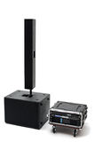 Acoustic system. Front view on the isolated background Stock Photography