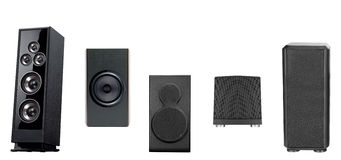 Acoustic system isolated vertically. Isolated on a white background Royalty Free Stock Image