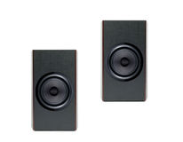 Acoustic system isolated Stock Photo