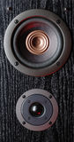 Acoustic system. Vintage acoustic system close up Stock Image