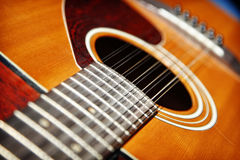 Acoustic Twelve String Guitar Royalty Free Stock Images