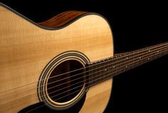 Acoustic wooden guitar Stock Photo