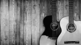 Acoustic wooden guitars Royalty Free Stock Photography
