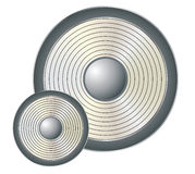 Acoustic woofer Stock Photo