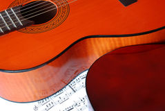 Acoustical guitar music Royalty Free Stock Image