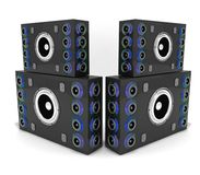 Acoustics. Speaker system for large areas, concerts and stadiums Stock Photos