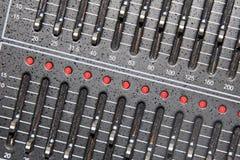 Acoustics knob. Closeup of acoustics knob in a music studio Royalty Free Stock Photography