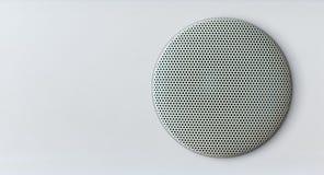 Acoustics speaker. Over white area stock photos