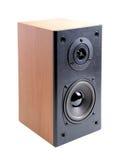 Acoustics system. Loudspeaker acoustics system. Isolated on white royalty free stock photos