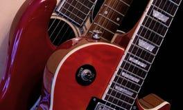 Acoustique électrique de série de guitare de HD d'isolement Photos libres de droits