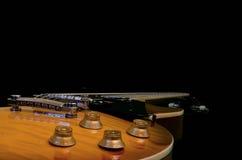 Acoustique électrique de série de guitare de HD d'isolement Images libres de droits