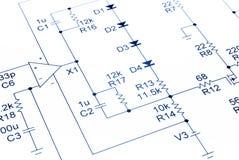Acoustique de schéma de circuit électronique Photos libres de droits