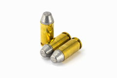 .45 acp semiwadcutter bullet isolated on a white background Stock Photos