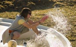 Acqua! Fotografie Stock