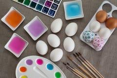 Uova di Pasqua Della decorazione Fotografie Stock Libere da Diritti