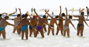 Acqua aerobica in Mar Rosso Fotografie Stock Libere da Diritti