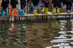 Acqua Alta, Venedig Lizenzfreies Stockfoto