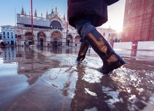 Acqua Alta In Venice Stockbilder