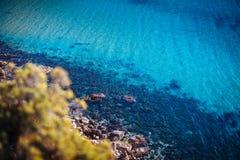 Acqua azzurrata di Malta fotografie stock libere da diritti